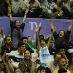 تصاویر/ حضور بانوان در بازی والیبال ایران-آمریکا