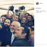 عکس/ سلفی خبرنگاران با ظریف در آسمان