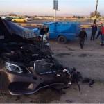 عکس/نابودی مرسدس بنز در تصادف با نیسان