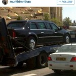 عکس/خودروی ویژه فوق امنیتی اوباما
