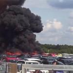 سقوط هواپیمای متعلق به خانواده بنلادن در انگلیس +تصاویر