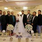 مراسم عقد با حضور برادر روحانی و باجناق ناطق نوری +تصاویر