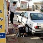 ضربه سرشیلنگ پمپ گاز، جان راننده بنابی را گرفت +عکس