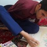 آثار بدیع هنرمند بدون دست آذربایجانی