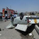 ۲ کشته در واژگونی وانت در اتوبان تبریز – زنجان