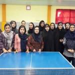 بانوان تبریز فاتح رقابت های تنیس روی میز آذربایجان شرقی