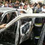 آتش سوزی ۱۵ دستگاه خودرو ون ترکیه در مرز بازرگان عمدی نبود
