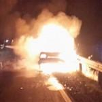 خودروی پژو ۴۰۵ در جاده مرند – تبریز خاکستر شد + عکس