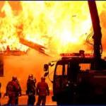 آتش سوزی شدید در یکی از واحدهای صنعتی غرب تبریز