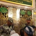 سربازان سعودی،مانع از زیارت حجاج+عکس