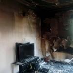 رعد و برق یک خانه را در شبستر خاکستر کرد +عکس