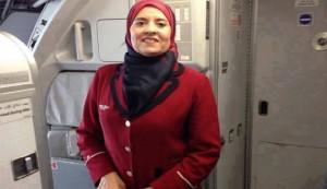 نبیله الجلولی، مهماندار اخراجشدۀ خطوط هوایی تونس