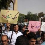 تجمع دانشجویان دانشگاه تبریز در محکومیت فاجعه منا+تصاویر