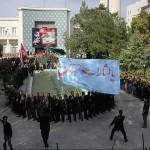 حضور دسته های عزاداری تاسوعای حسینی در استانداری آذربایجان شرقی