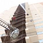۱۸مسموم بر اثر آتش سوزی در یکی از برجهای تبریز