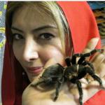 عکس یادگاری بازیگر زن با رتیل!