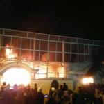 سفارت عربستان در آتش + فیلم
