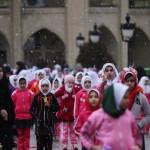 طناب زنی دختران دانش آموز در ائل گلی + تصاویر