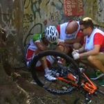 قادر میربانی با یک حادثه از دوچرخه سواری جاده المپیک حذف شد