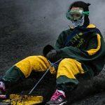تصاویر/ اسکی روی کوه آتشفشان