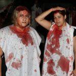 تصاویر/قمهزنی دختران بیحجاب در شب عاشورا!