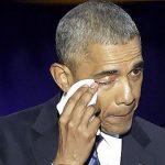 تصاویر/ خداحافظی اشکبار اوباما