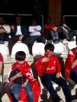 تصاویر هواداران تراکتورسازی قبل از شروع بازی با نفت تهران